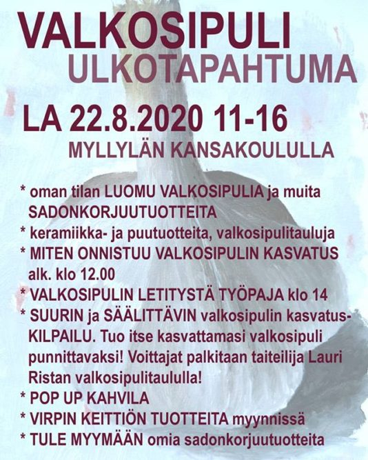 valkosipuli ulkotapahtuma Myllylän koululla