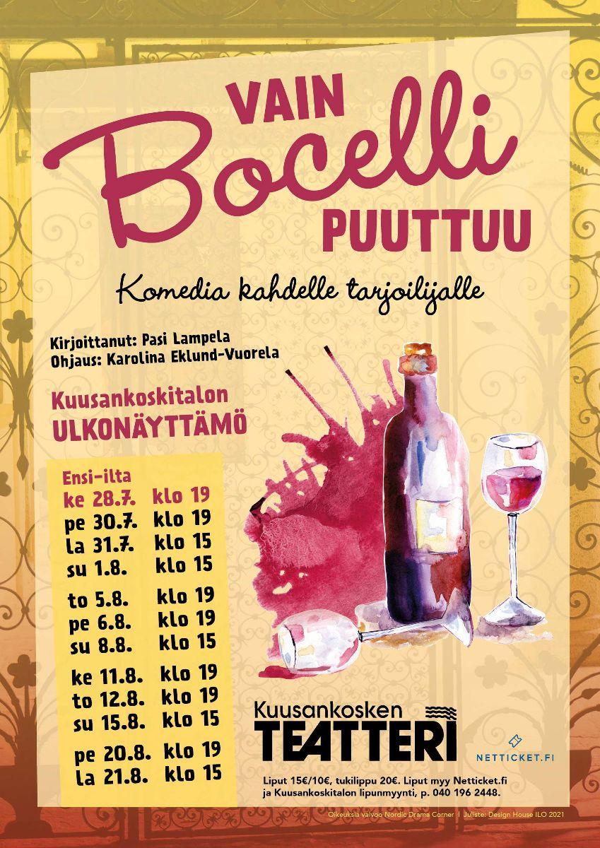 Kuusankosken teatteri Vain Bocelli puuttuu juliste
