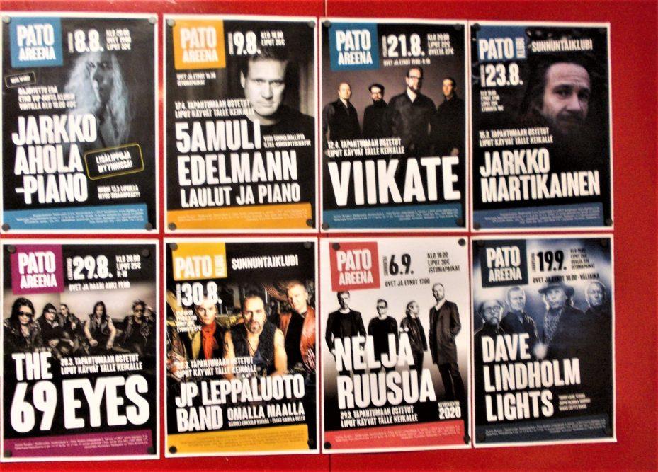 Kuusankosken Taideruukissa ja sen sisäpihalla runsaasti ohjelmaa Kouvolan Taiteiden Yönä. Pato Klubin ja Pato Areenan syyskausi avattiin Jarkko Aholan ja Samuli Edelmannin konserteilla. 1