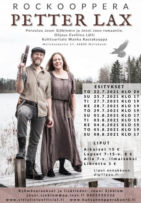 Rockooppera Petter Laxin esitykset heinä-elokuussa 2021 1