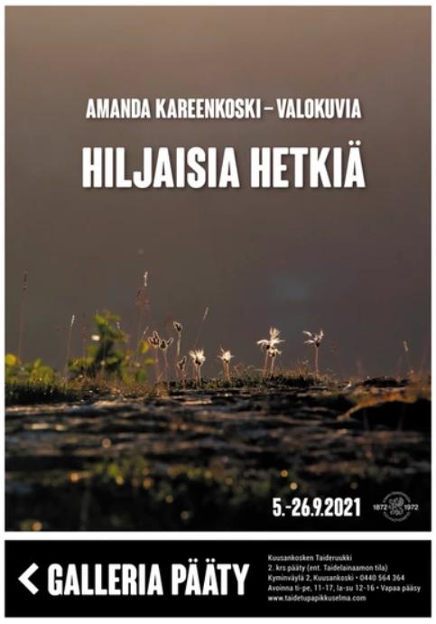 Kuusankosken Taideruukin 2. kerroksen galleriat täyttyvät näyttelyistä kolmen viikon jaksoissa. Muusikko Pave Maijasen (1950-2021) ottamien valokuvien näyttely Pato Klubilla 24.10.2021 saakka. 4