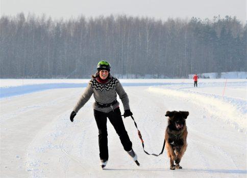 Seikkailuviikarin ylläpitämä Kymijoen jäärata Kuusankoskella