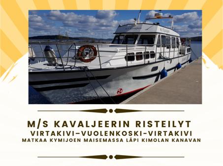Vielä on kesää jäljellä… Aurinkoinen viikonloppu sopii hyvin M/S Kavaljeerin risteilyille Voikkaan Virtakiven Saunalta Kimolan kanavalle 19.-20.9.2020 1